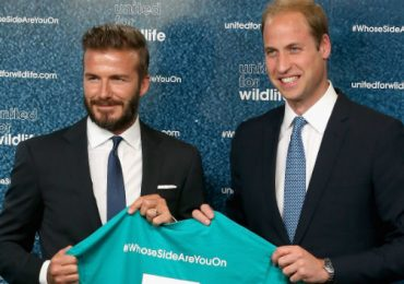 El príncipe William y David Beckham se unen contra el comercio ilegal de animales
